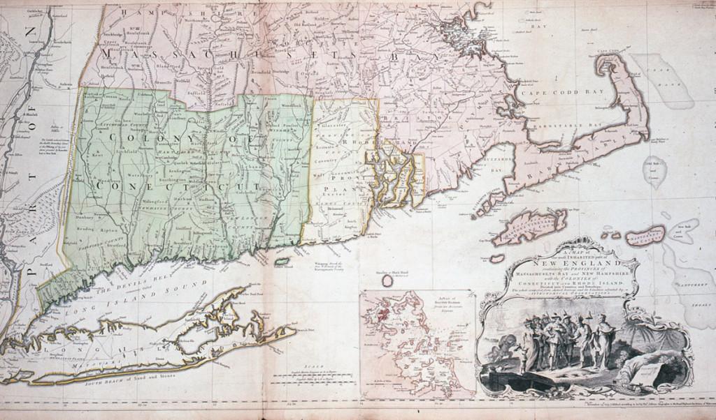 Winterthur Common Destinations (Maps) Map of New England 1974.0169 Part 1