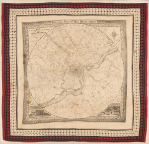 Winterthur Common Destinations (Maps)  Sidney Map handkerchief 1987.0133