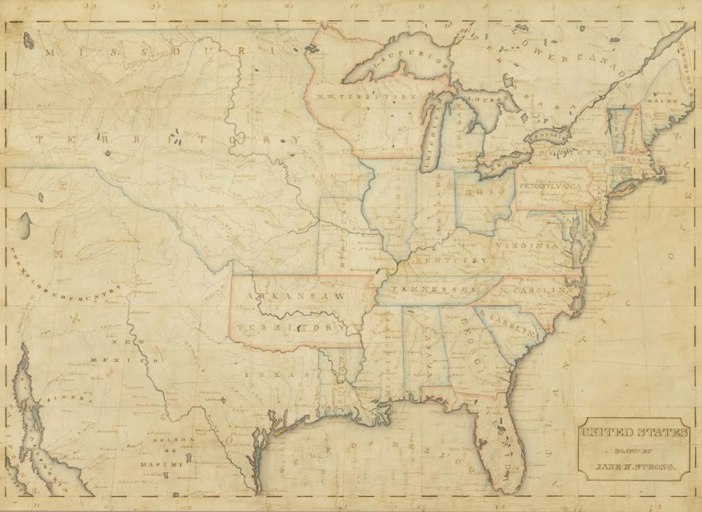 Winterthur Common Destinations (Maps) Jane Strong Map 2013.0002.002
